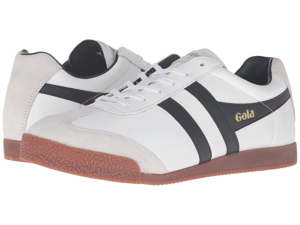 Gola - Harrier Leather (White/Black/Gum) Men