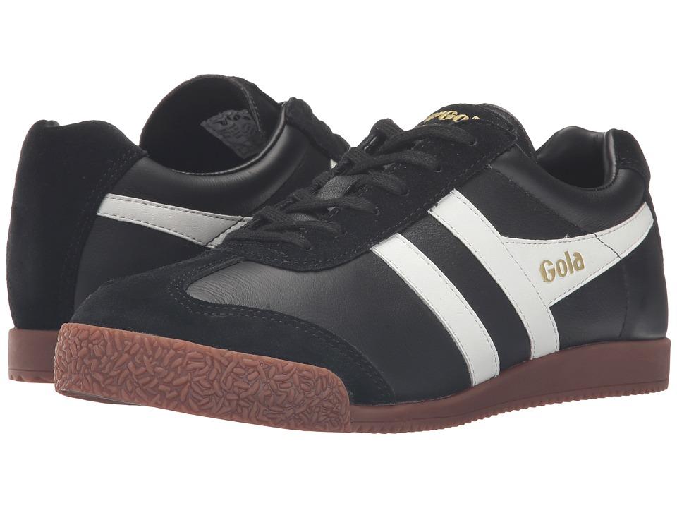 Gola - Harrier Leather (Black/White/Gum) Men