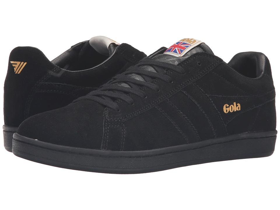 Gola - Equipe Suede (Black/Black) Men