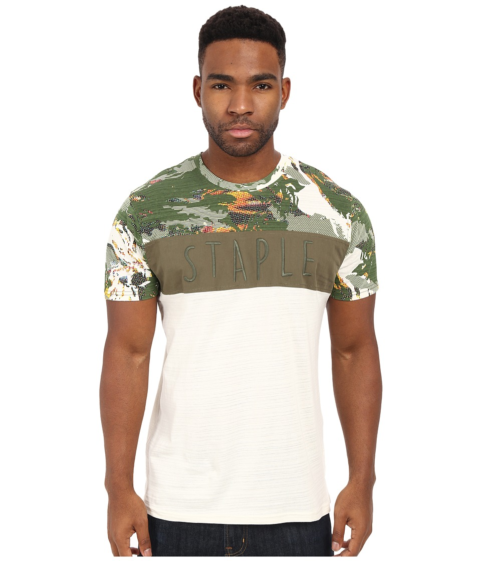 Staple Military Pieced Tee Vintage Mens T Shirt