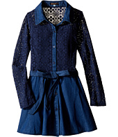 Ella Moss Girl - Crystal Long Sleeve Crochet Lace Dress (Big Kids)