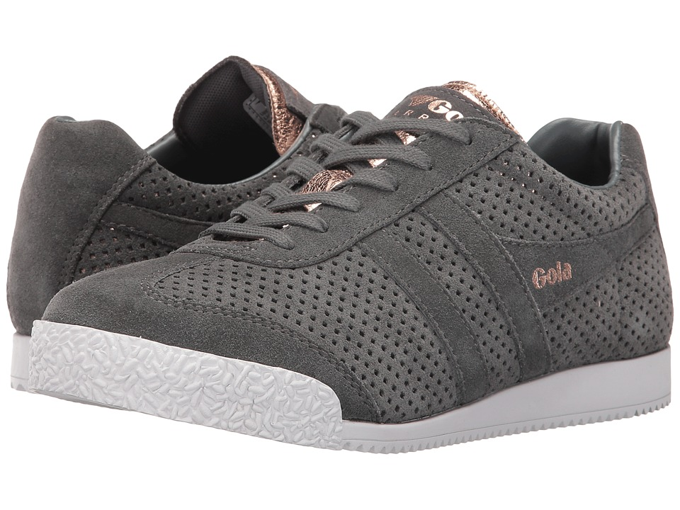 Gola Harrier Glimmer Suede (Grey/Rose Gold) Women
