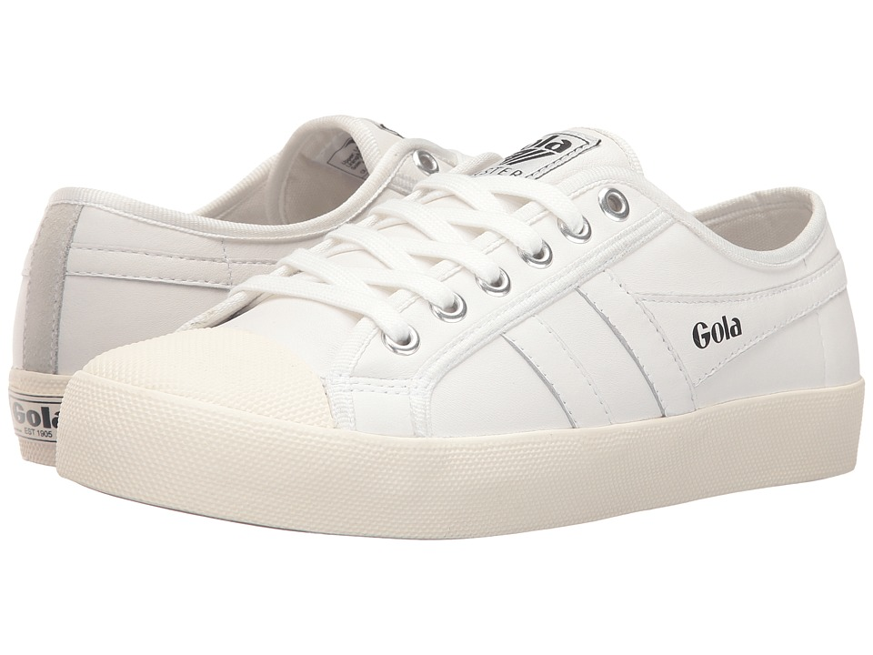 Gola Coaster Leather (White/Off-White) Women