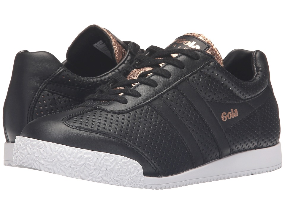 Gola Harrier Glimmer Leather (Black/Rose Gold) Women