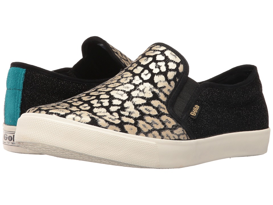 Gola Orchid Safari Slip (Black/Gold/Leopard) Women