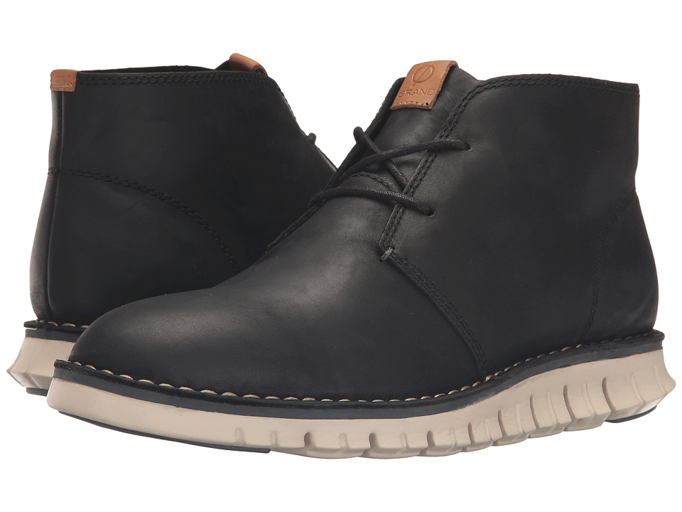 Cole Haan Zerogrand Stitchout Chukka (Black Waxy/White) Men