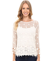 KUT from the Kloth - Lola 3/4 Sleeve Crochet Sweater