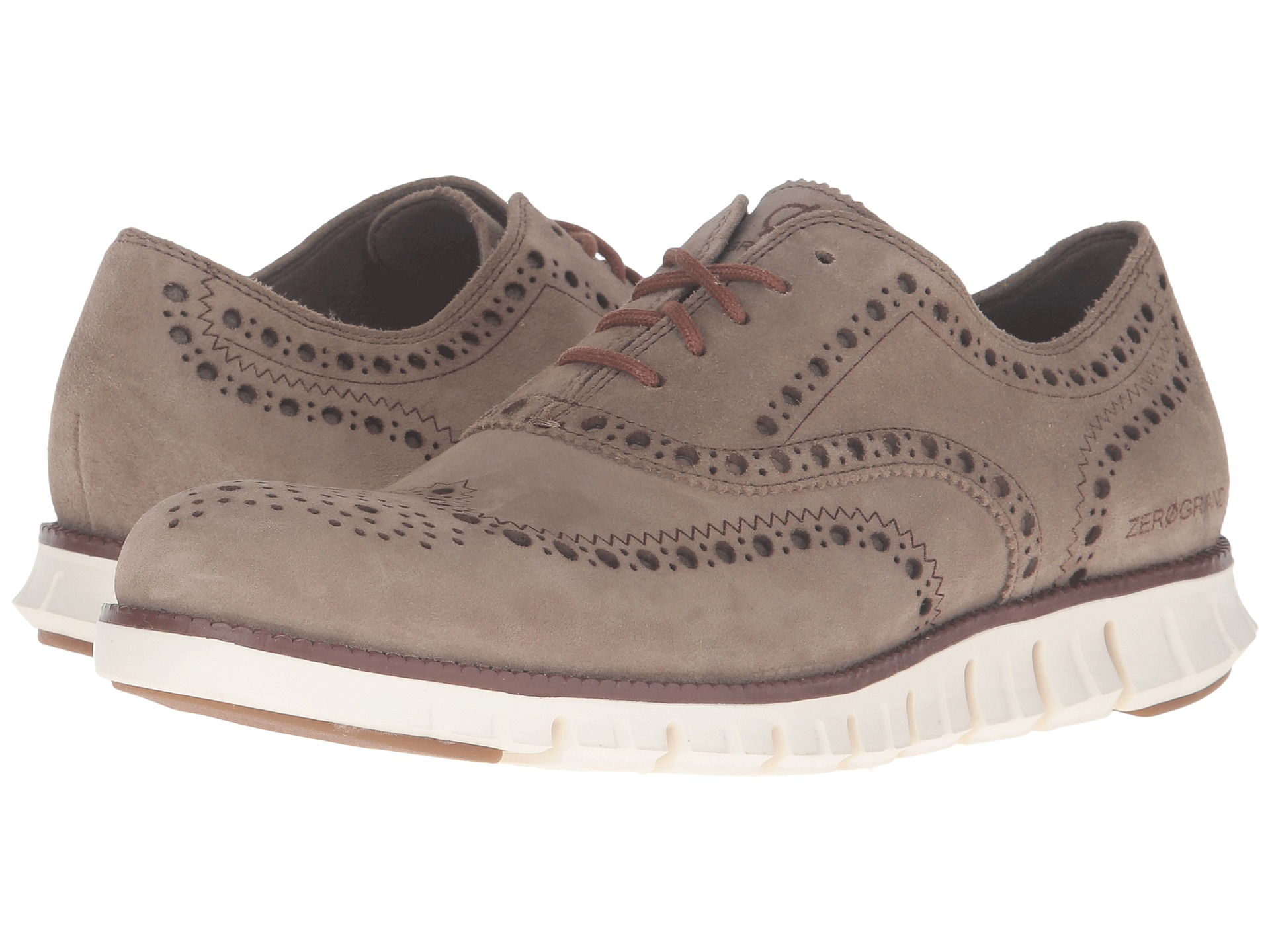Cole Haan Zerogrand Wing Oxford Desert Taupe Suede Ivory