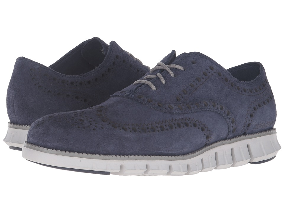 Cole Haan - Zerogrand Wing Oxford (Marine Blue Suede/Vapor Grey) Men