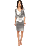 Nicole Miller - Beky Short Sleeve Stripe Soft Jersey Dress