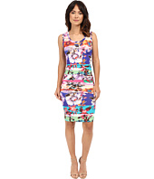 Nicole Miller - Garden Stripe Dakota Sleeveless Jersey Dress