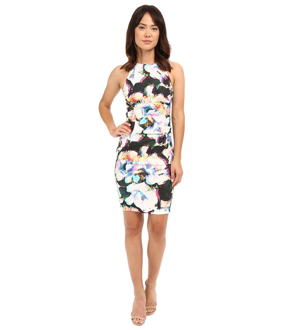 Nicole Miller Alix Layered Floral Linen Dress Multi Womens Dress