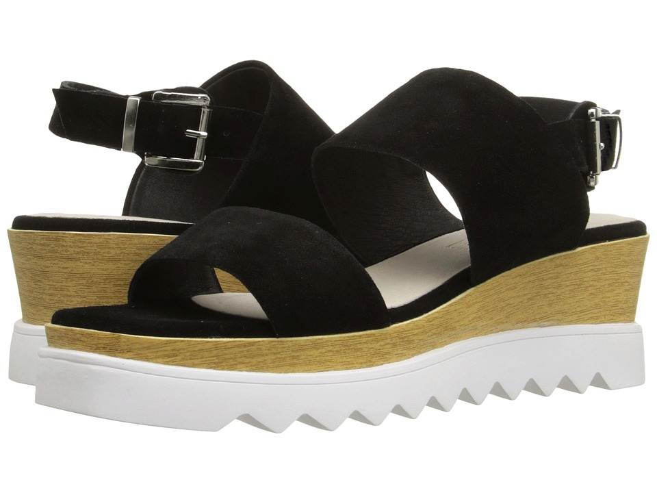 Sol Sana Traci Wedge Black Suede Womens Wedge Shoes