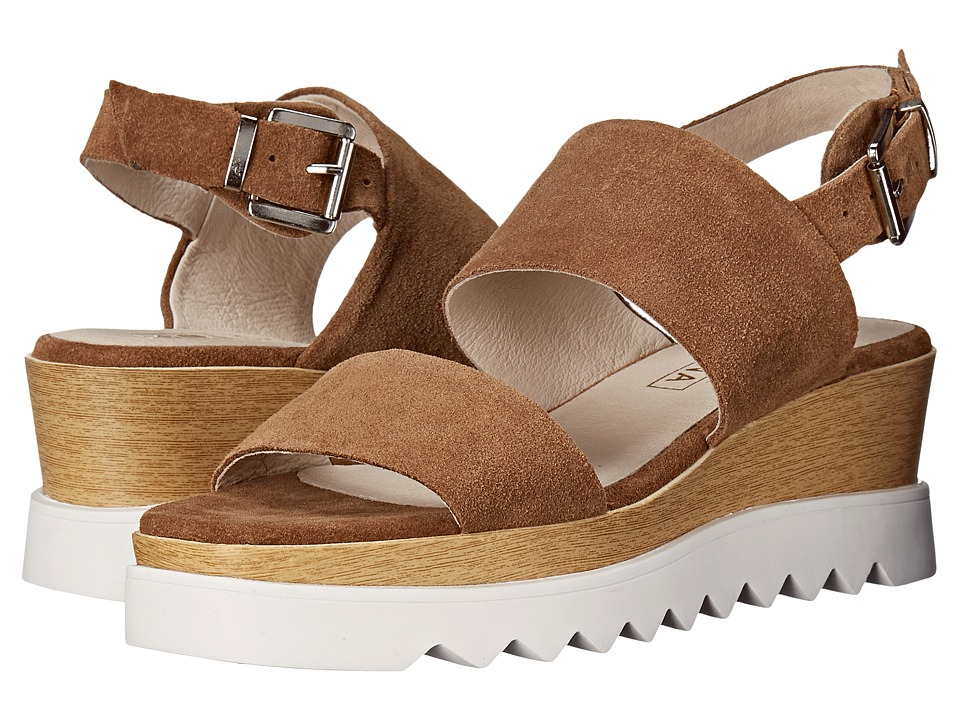 Sol Sana Traci Wedge Cognac Suede Womens Wedge Shoes