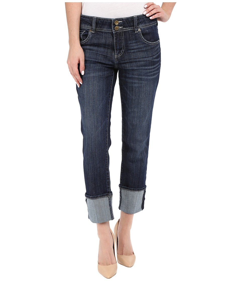 KUT from the Kloth Cameron Straight Leg Wide Roll in Provide w/ Dark Stone Provide/Dark Stone Womens Jeans