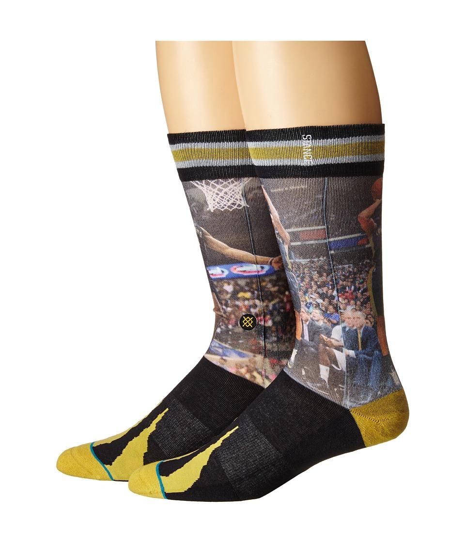 Stance Derozan/Lowry Gold Mens Crew Cut Socks Shoes