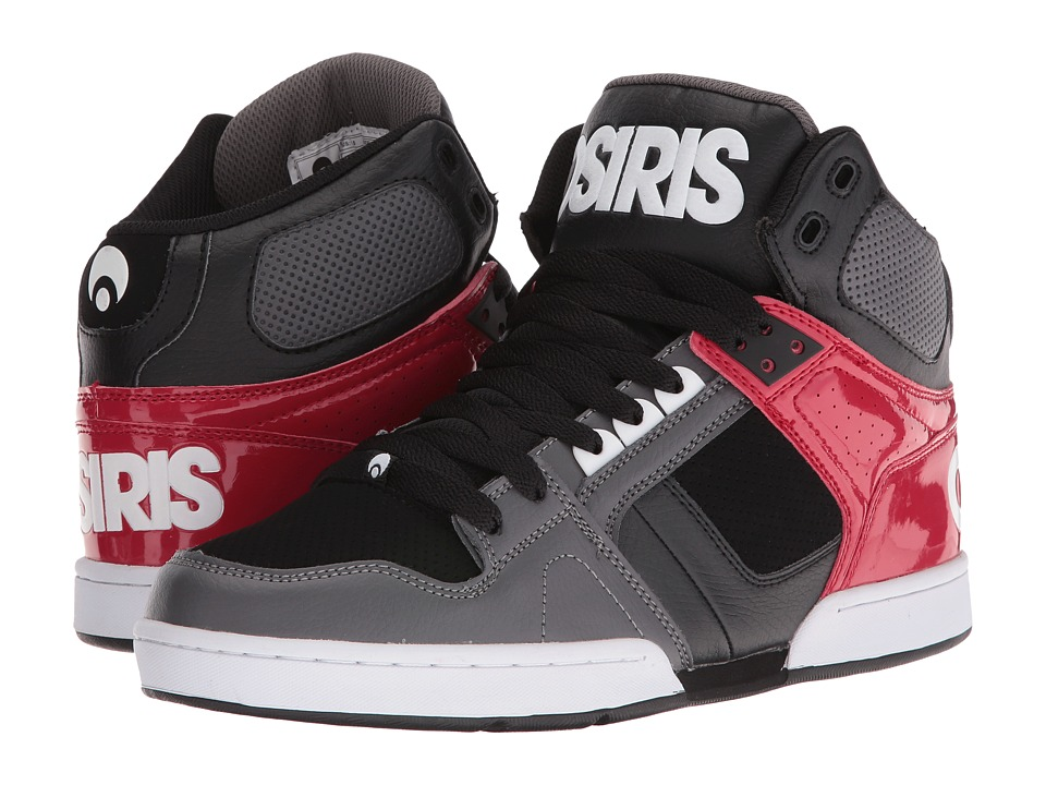 Osiris NYC83 (Dark Grey/Red) Men