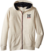Tommy Hilfiger Kids - Long Sleeve Matt Logo Hilfiger Hoodie (Big Kids)