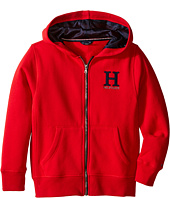 Tommy Hilfiger Kids - Long Sleeve Matt Logo Hilfiger Hoodie (Toddler/Little Kids)
