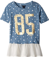 Tommy Hilfiger Kids - Star Mixed Media Fashion Top (Big Kids)