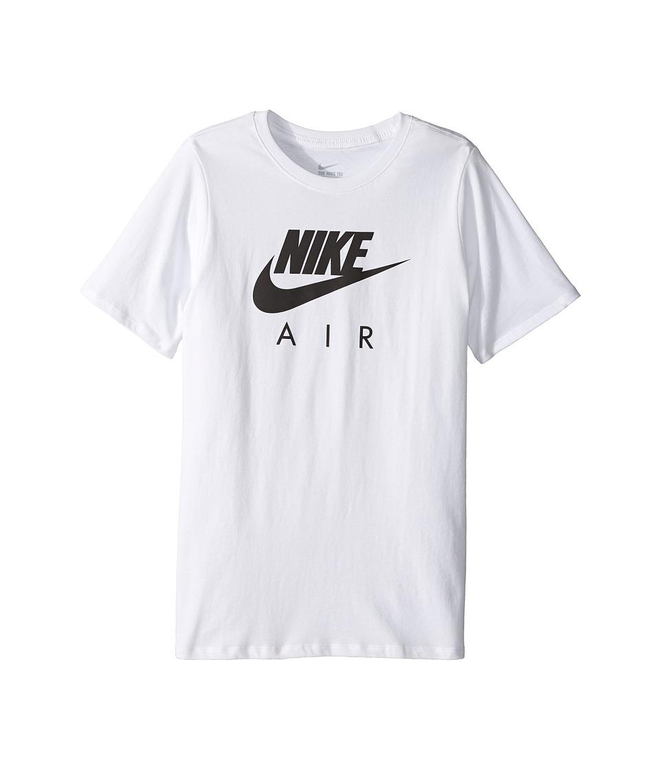 Nike Kids Air Training T-Shirt (Little Kids/Big Kids) (White) Boy