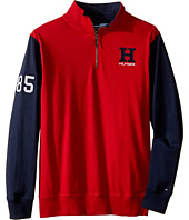 Tommy Hilfiger Kids - Matt 1/2 Zip Pullover Sueded Jersey Sweater (Big Kids)