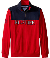 Tommy Hilfiger Kids - Long Sleeve Color Block Hilfiger 1/2 Zip Sueded Sweater (Big Kids)