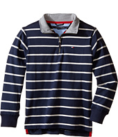 Tommy Hilfiger Kids - Stripe 1/2 Zip Sueded Jersey Sweater (Toddler/Little Kids)