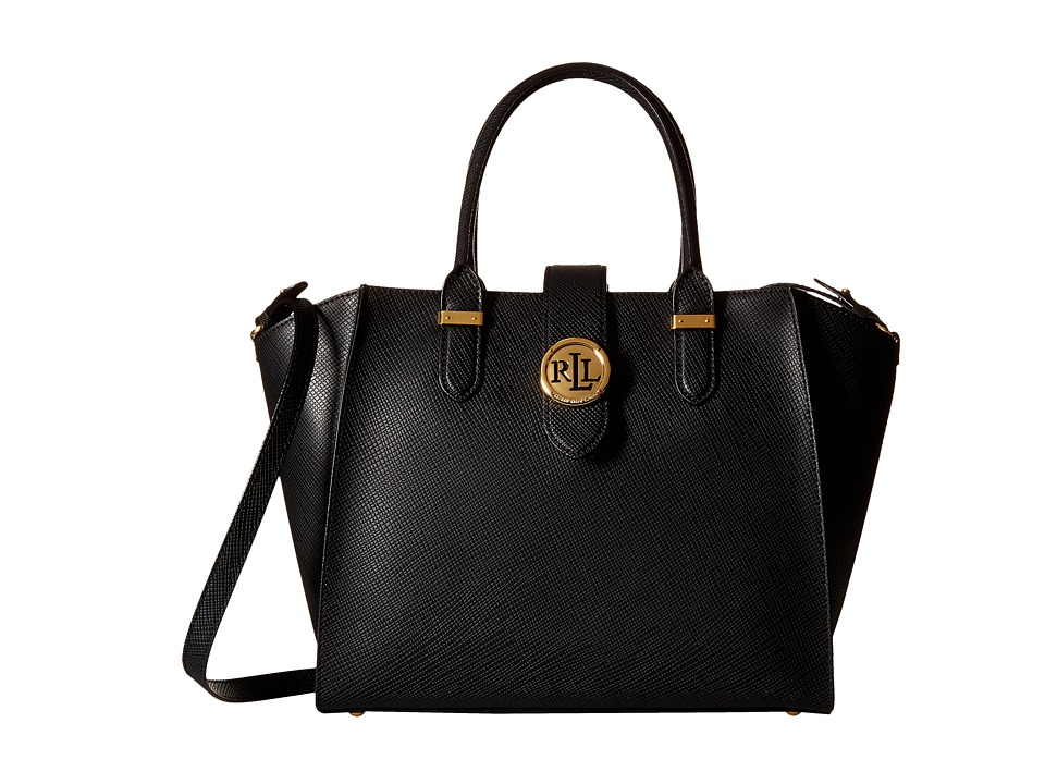 LAUREN Ralph Lauren - Charleston Shopper (Black) Handbags