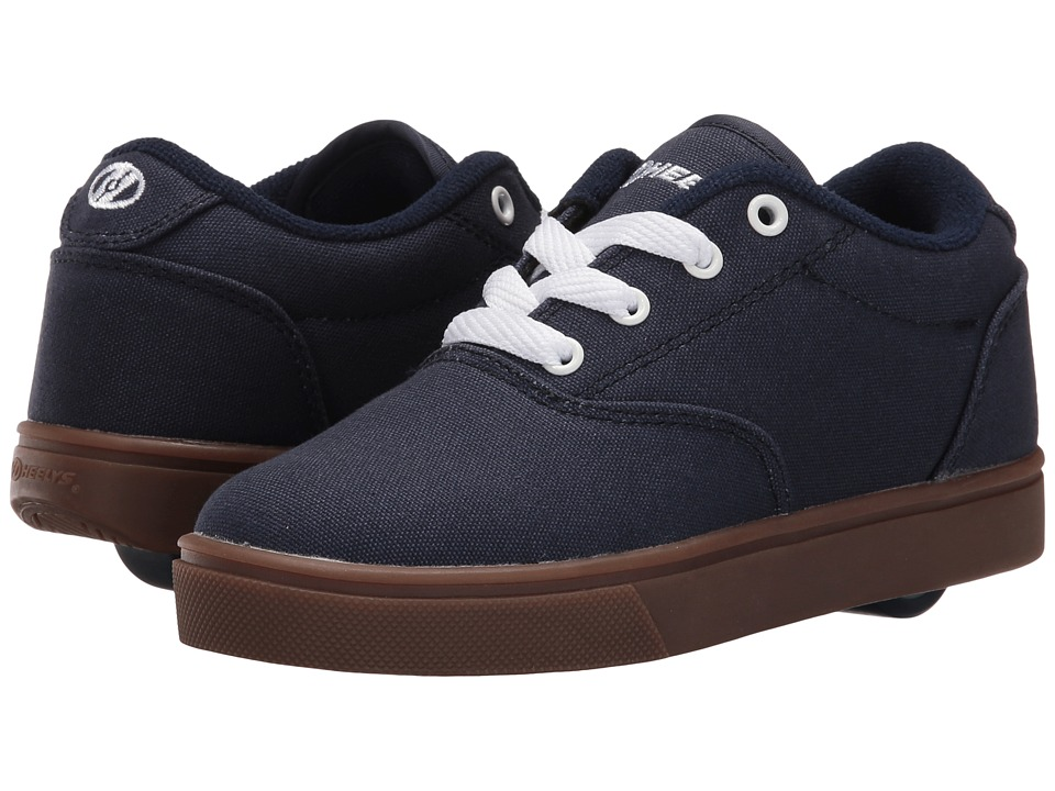 Heelys Launch (Little Kid/Big Kid/Adult) (Navy/White/Gum) Boys Shoes