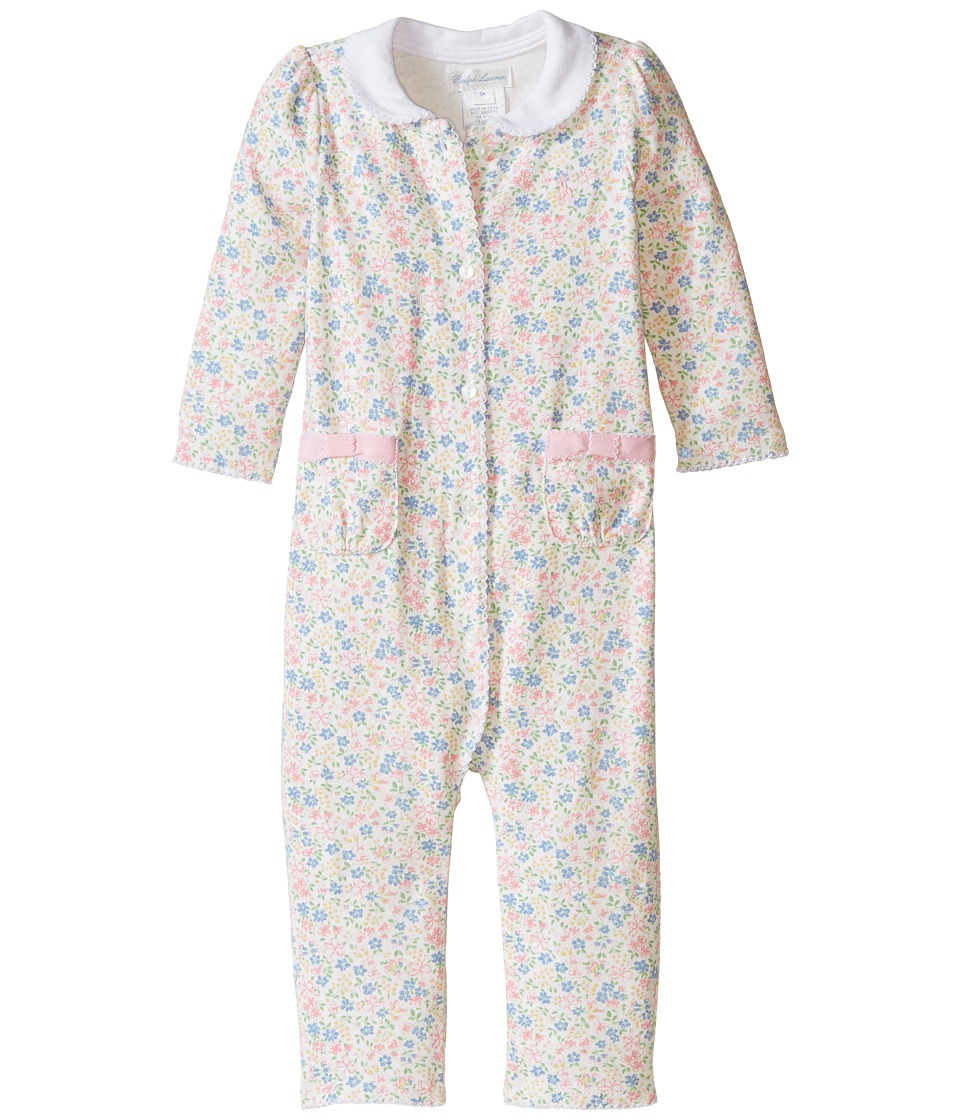 Ralph Lauren Baby - Printed 1x1 Rib Floral One-Piece Coveralls