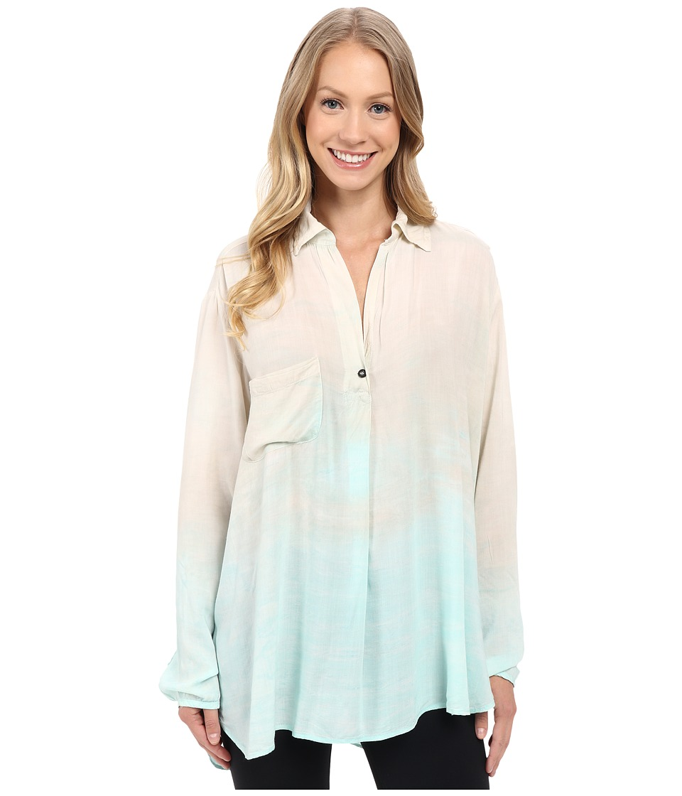 Hard Tail - Long Sleeve Maxi Shirt (Rainbow Horizon 42) Women