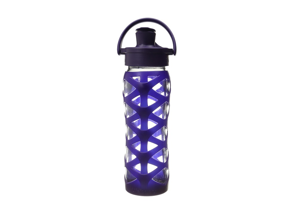Lifefactory - Glass Bottle with Active Flip Cap 22 oz. (Aubergine) Athletic Sports Equipment