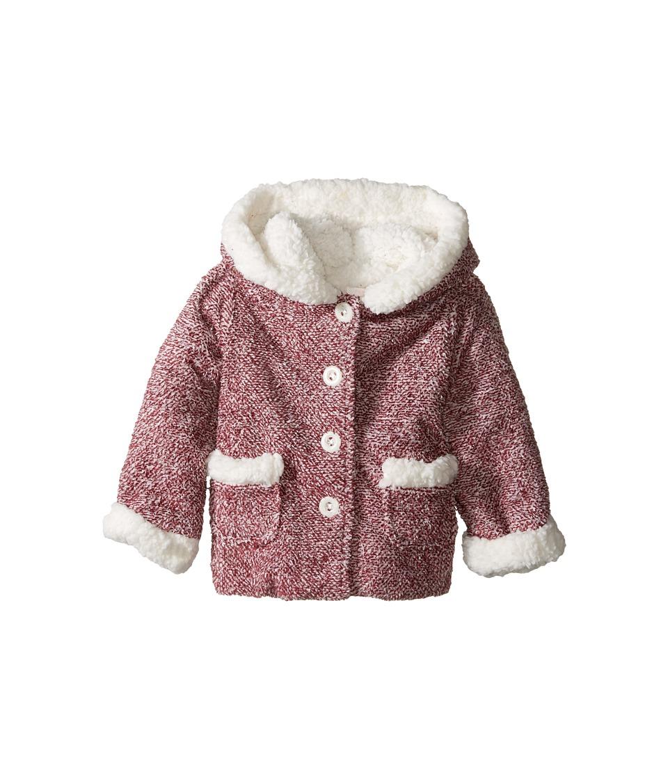 Pumpkin Patch Kids - Speckled Fleece Jacket (Infant) (Beaujolais) Girl
