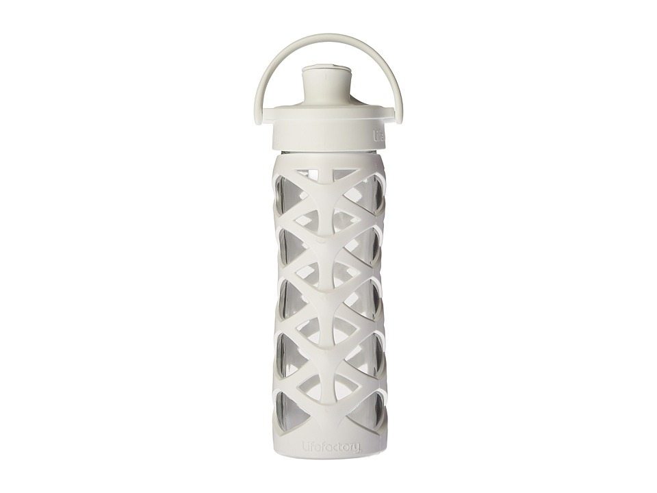 Lifefactory - Glass Bottle with Active Flip Cap 16 oz. (Optic White) Athletic Sports Equipment