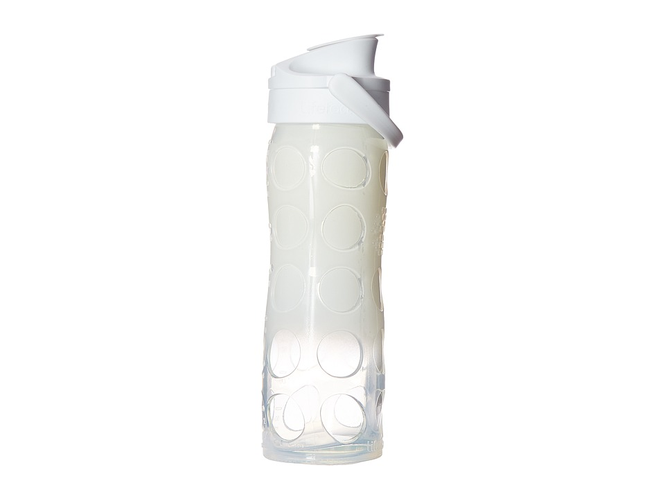 Lifefactory - Glass Bottle Ombre/Splash with Active Flip Cap 16 oz. (White Ombre) Athletic Sports Equipment