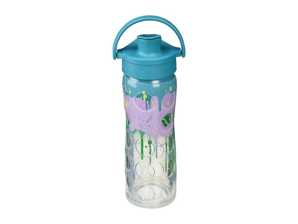 Lifefactory - Glass Bottle Ombre/Splash with Active Flip Cap 16 oz.
