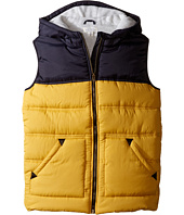 Pumpkin Patch Kids - Hooded Spliced Puffer Vest (Little Kids/Big Kids)