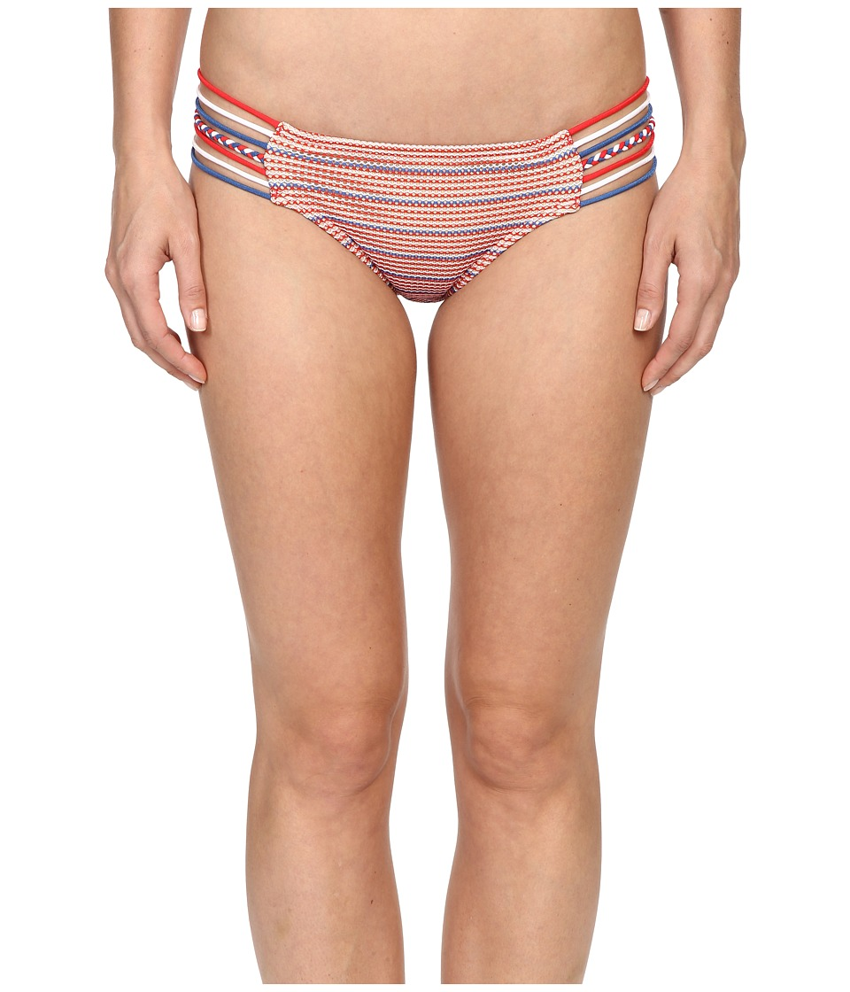 Luli Fama American Dream Braided Side Full Bottoms Multicolor Womens Swimwear