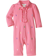 Ralph Lauren Baby - Interlock Schiffli One-Piece Coveralls (Infant)