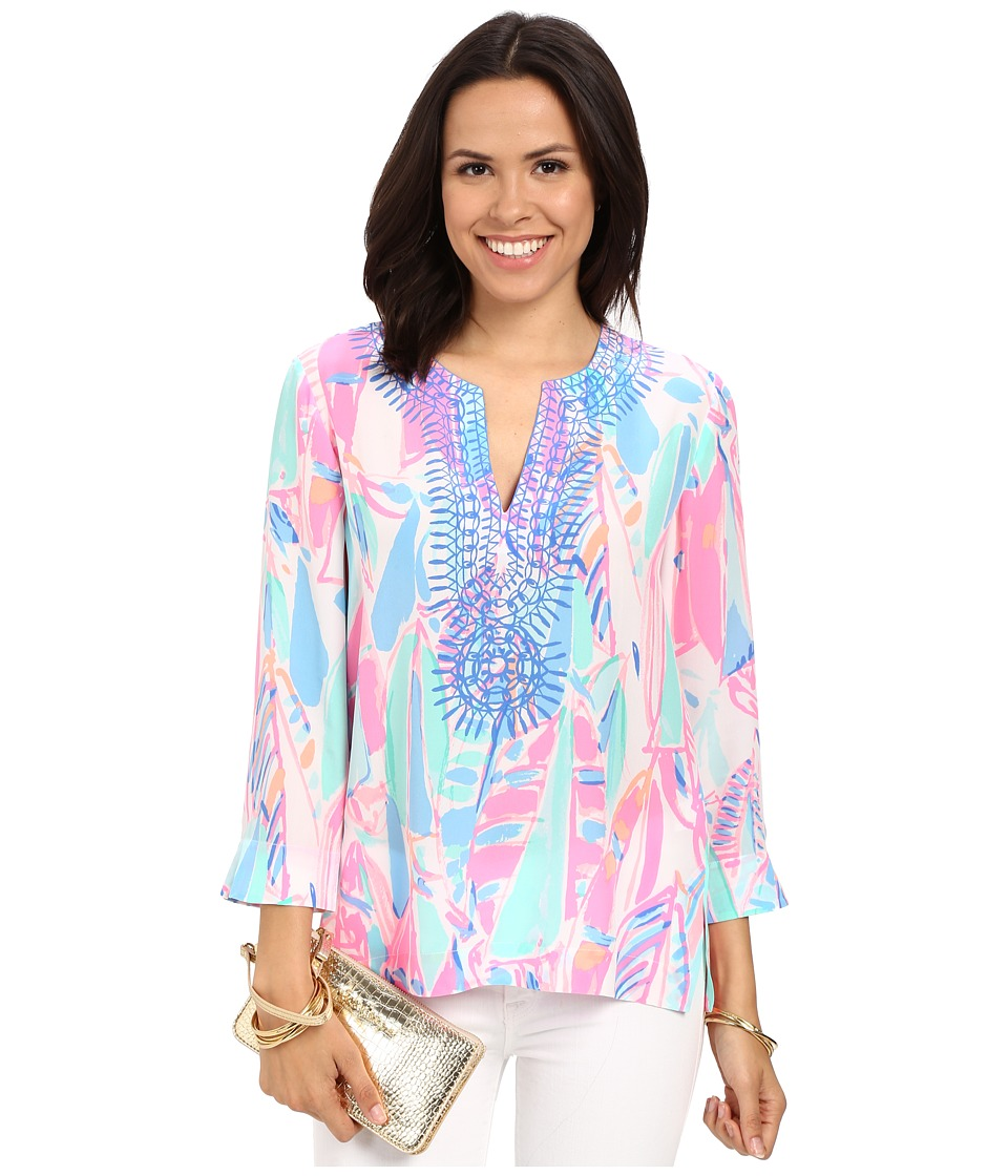 Lilly Pulitzer Amelia Island Tunic Multi Out To Sea Womens Blouse