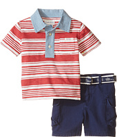 Ralph Lauren Baby - Yarn-Dyed Jersey Stripe Polo Short Set (Infant)