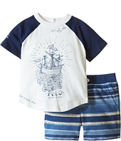 Ralph Lauren Baby - Jersey Stripe Short Set (Infant)
