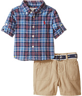 Ralph Lauren Baby - Yarn-Dyed Madras Plaid Short Set (Infant)