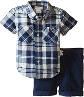 Ralph Lauren Baby - Yarn-Dyed Twill Plaid Short Set (Infant)