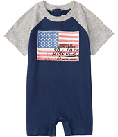 Ralph Lauren Baby - Flag One-Piece Shortalls (Infant)