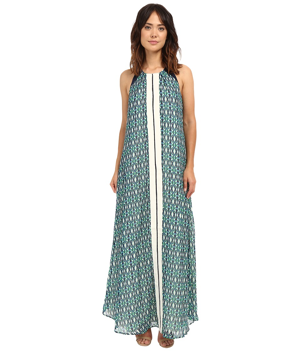 Adelyn Rae Printed Maxi Green Womens Dress