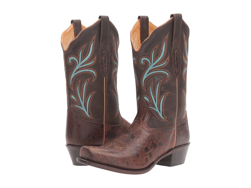 Old West Boots - 18010 (Brown) Cowboy Boots