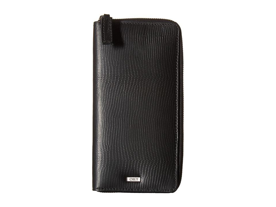 Obey - Jett Zip Around Wallet (Black) Wallet Handbags