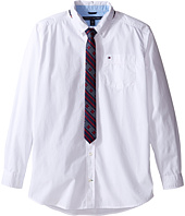 Tommy Hilfiger Kids - Kramer Long Sleeve Shirt with Tie (Big Kids)